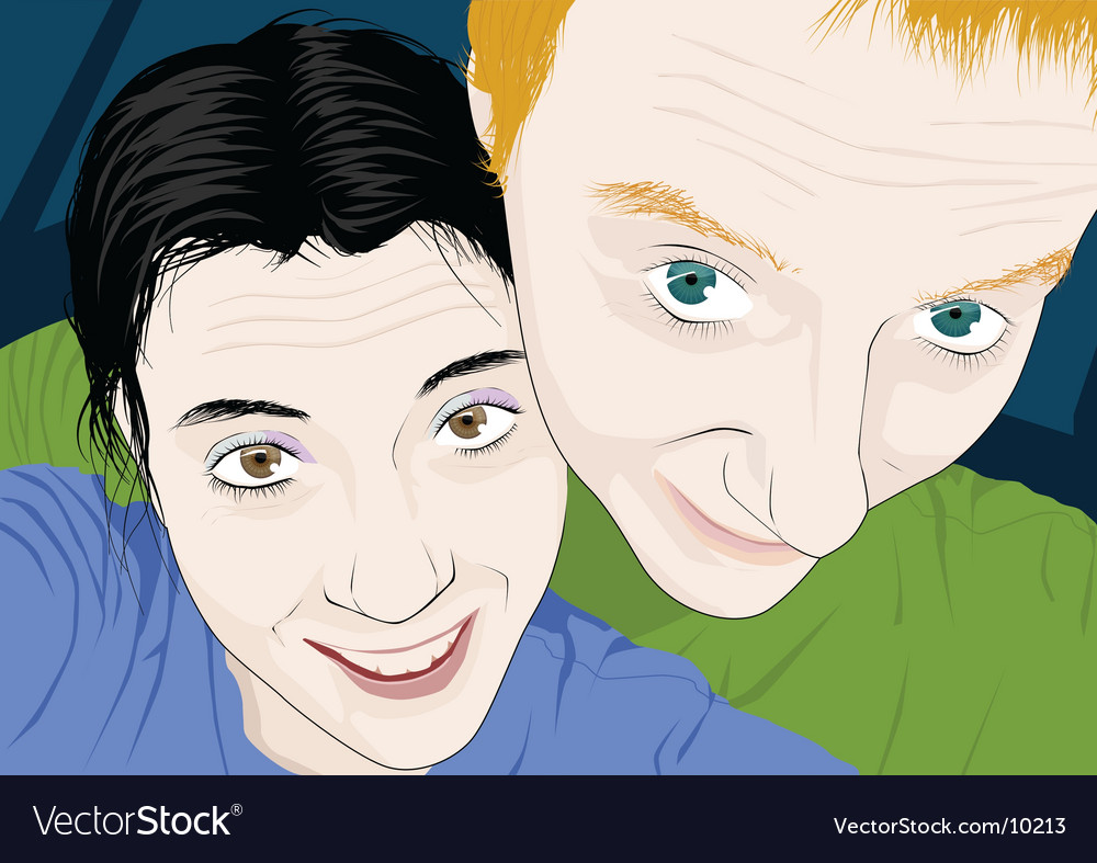 Portrait of couple vector | Price: 3 Credit (USD $3)