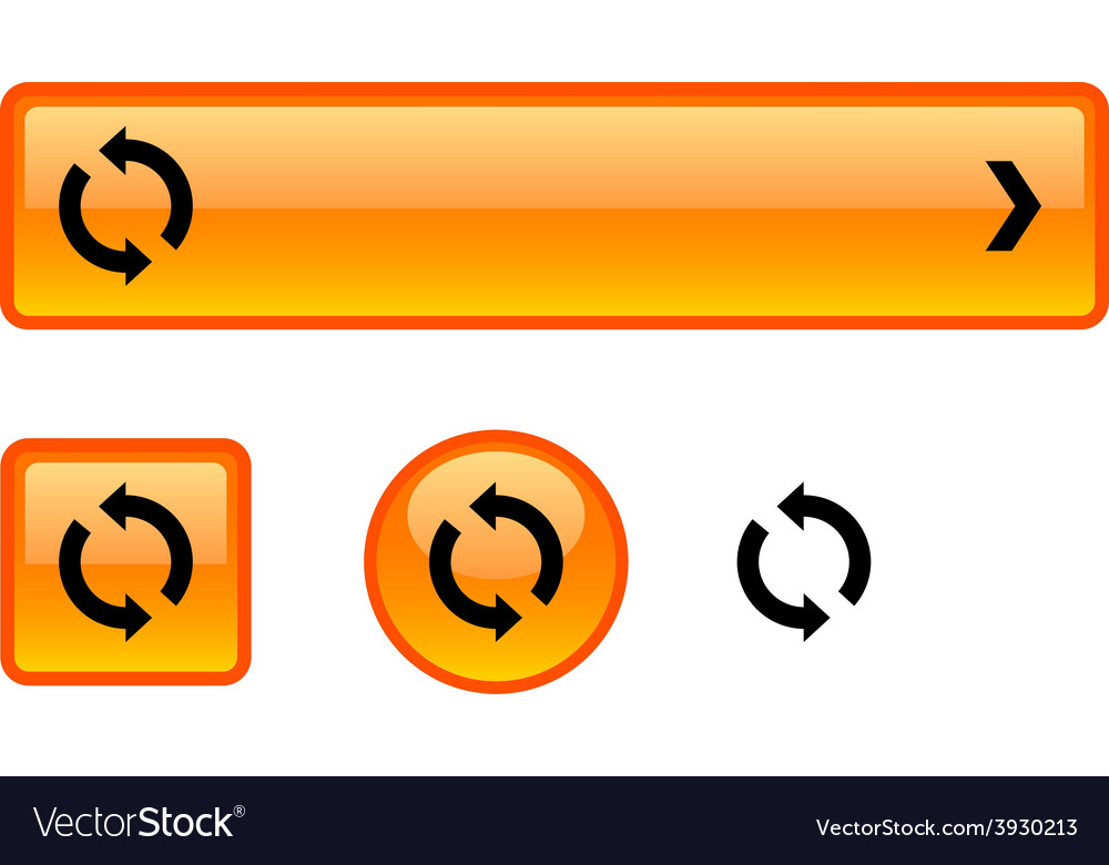 Refresh button set vector   Price: 1 Credit (USD $1)