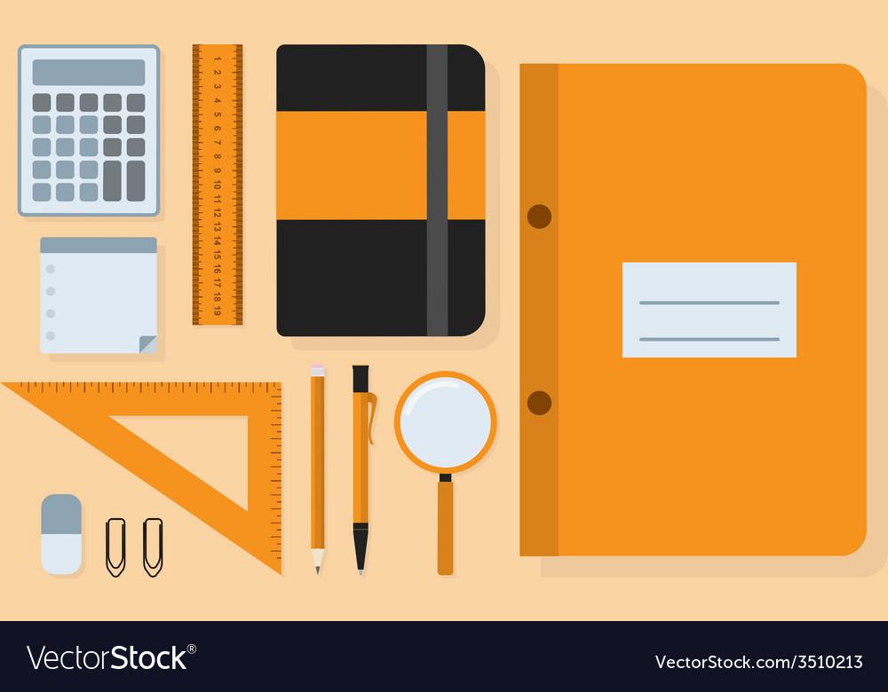 Students kit vector | Price: 1 Credit (USD $1)