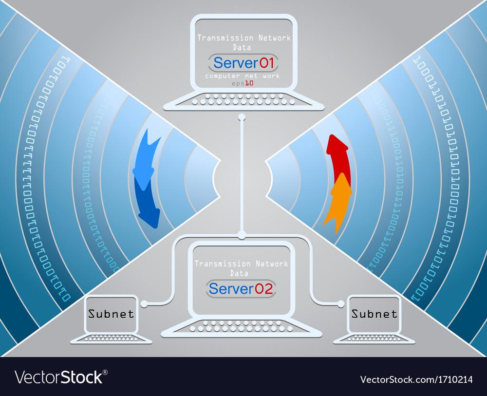 Computer network vector | Price: 1 Credit (USD $1)