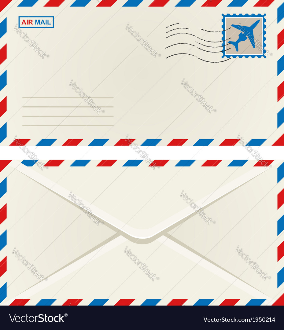 Front and back of an airmail envelope vector | Price: 1 Credit (USD $1)