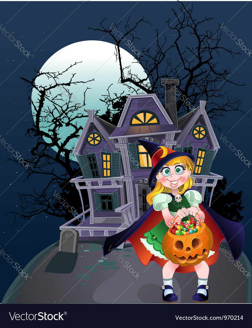 Halloween trick or treaters vector | Price: 5 Credit (USD $5)