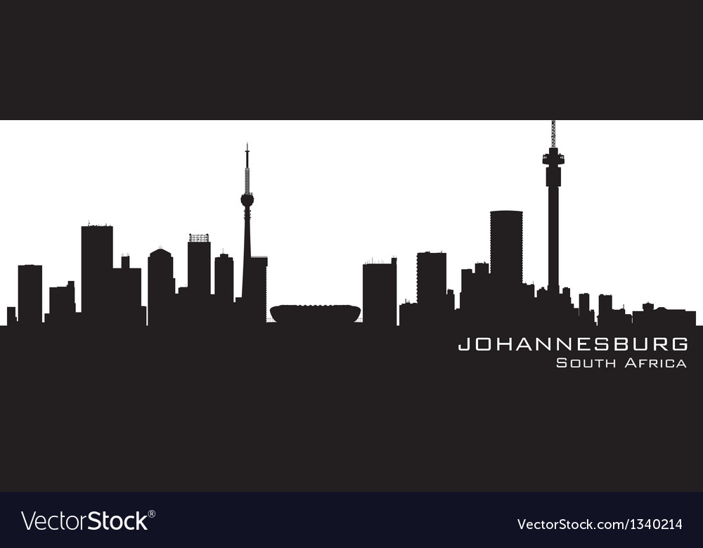 Johannesburg south africa skyline detailed silhoue vector | Price: 1 Credit (USD $1)