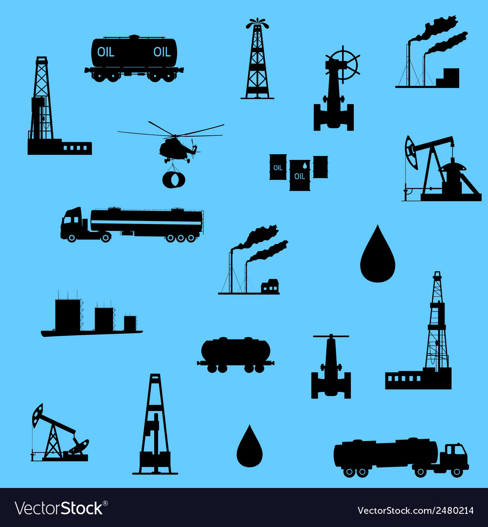 Oil and petroleum icon seamless vector | Price: 1 Credit (USD $1)