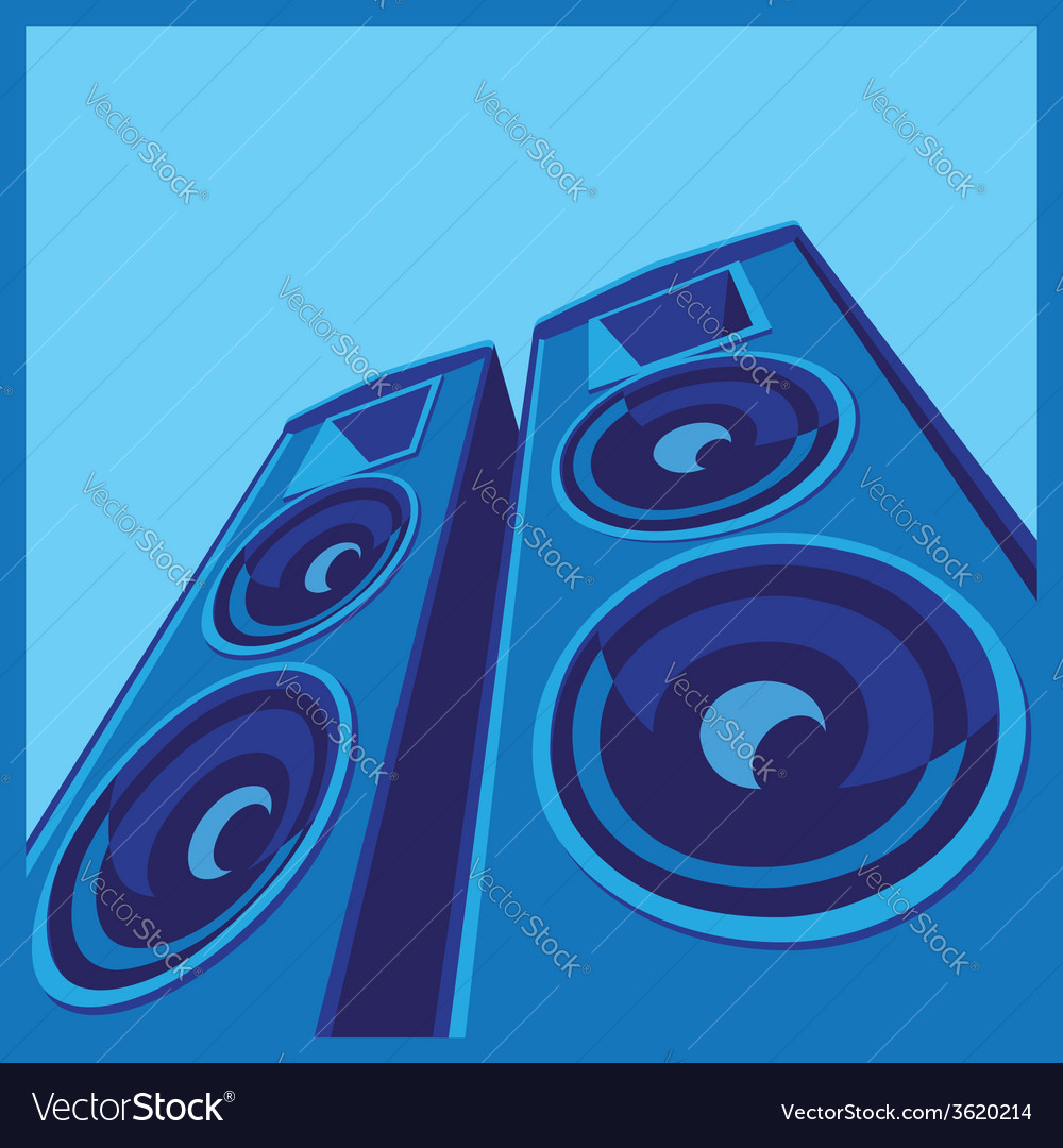 Powerful speaker system vector | Price: 1 Credit (USD $1)