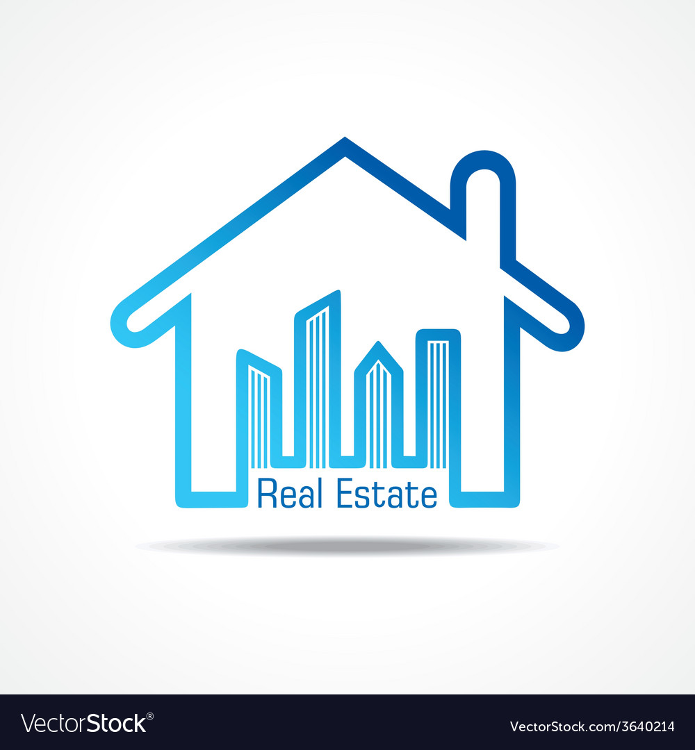 Real estate icon for sale property concept vector | Price: 1 Credit (USD $1)