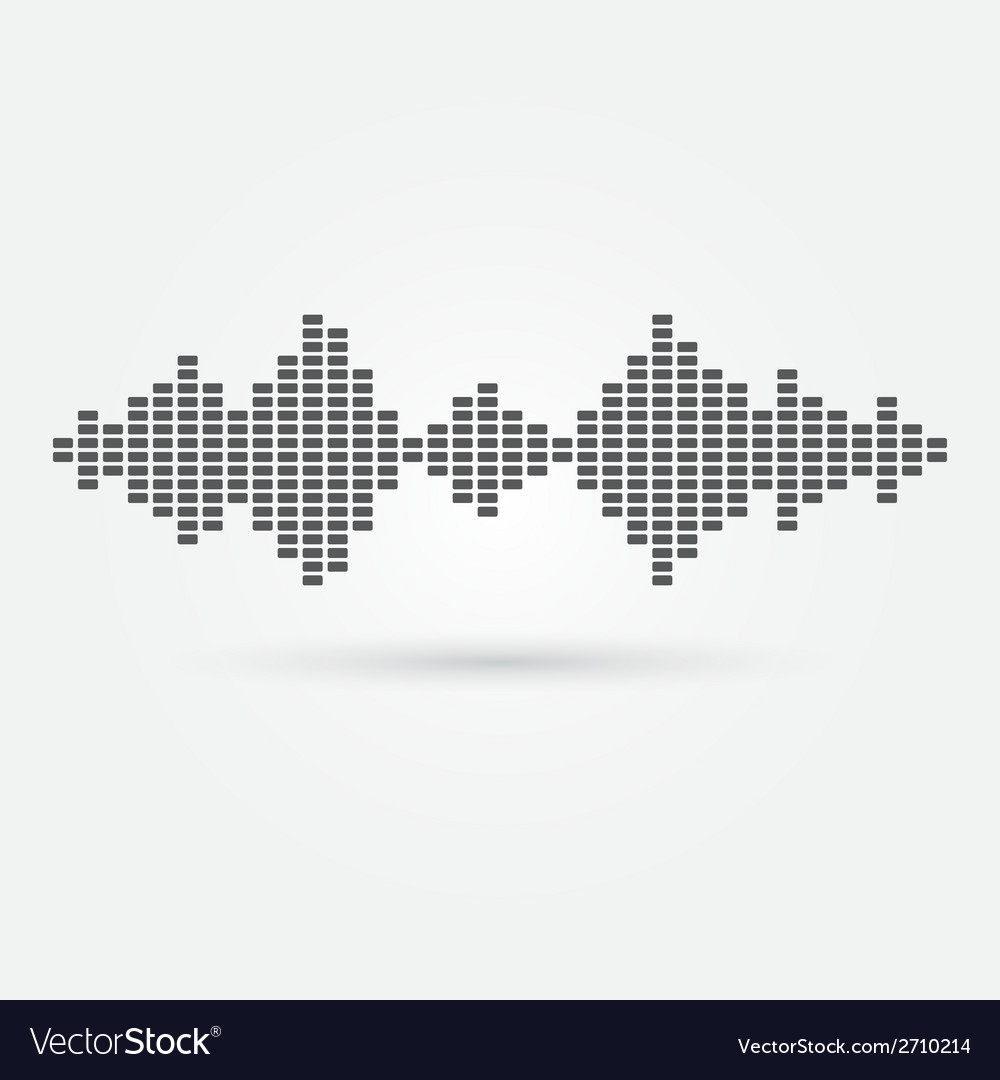 Soundwave music icon vector | Price: 1 Credit (USD $1)