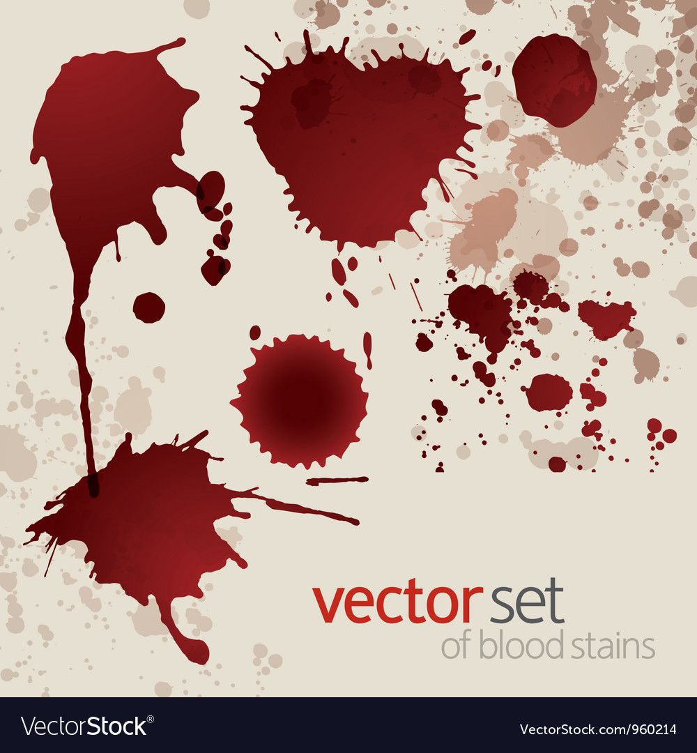 Splattered blood stains set 5 vector | Price: 1 Credit (USD $1)