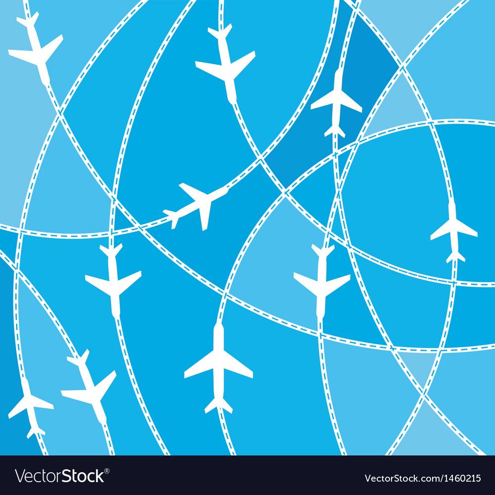Airplane destination routes vector   Price: 1 Credit (USD $1)