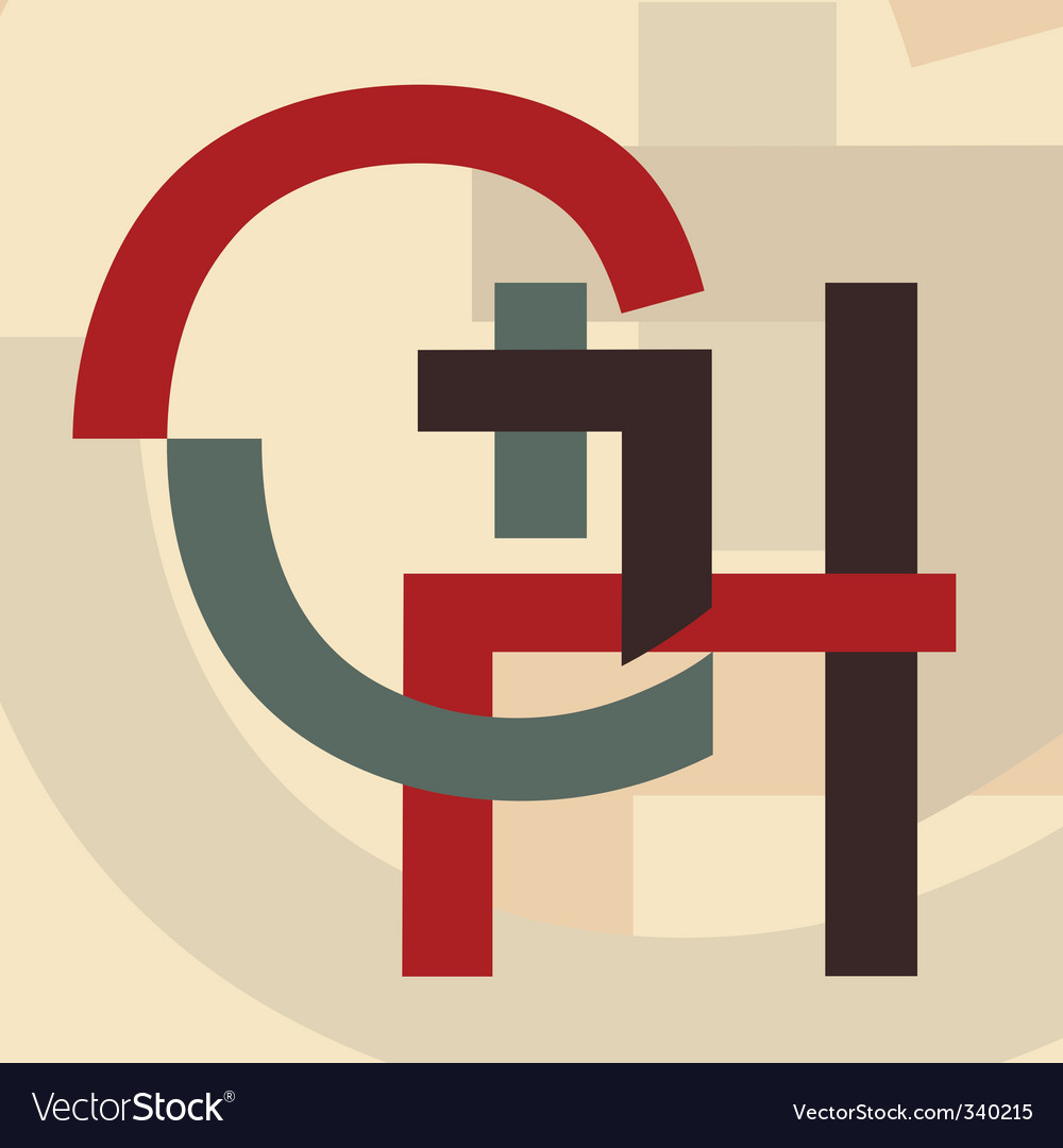 Alphabet g h vector | Price: 1 Credit (USD $1)