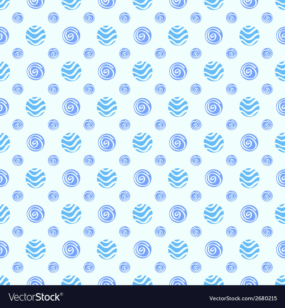 Blue soft polka dot seamless pattern vector | Price: 1 Credit (USD $1)