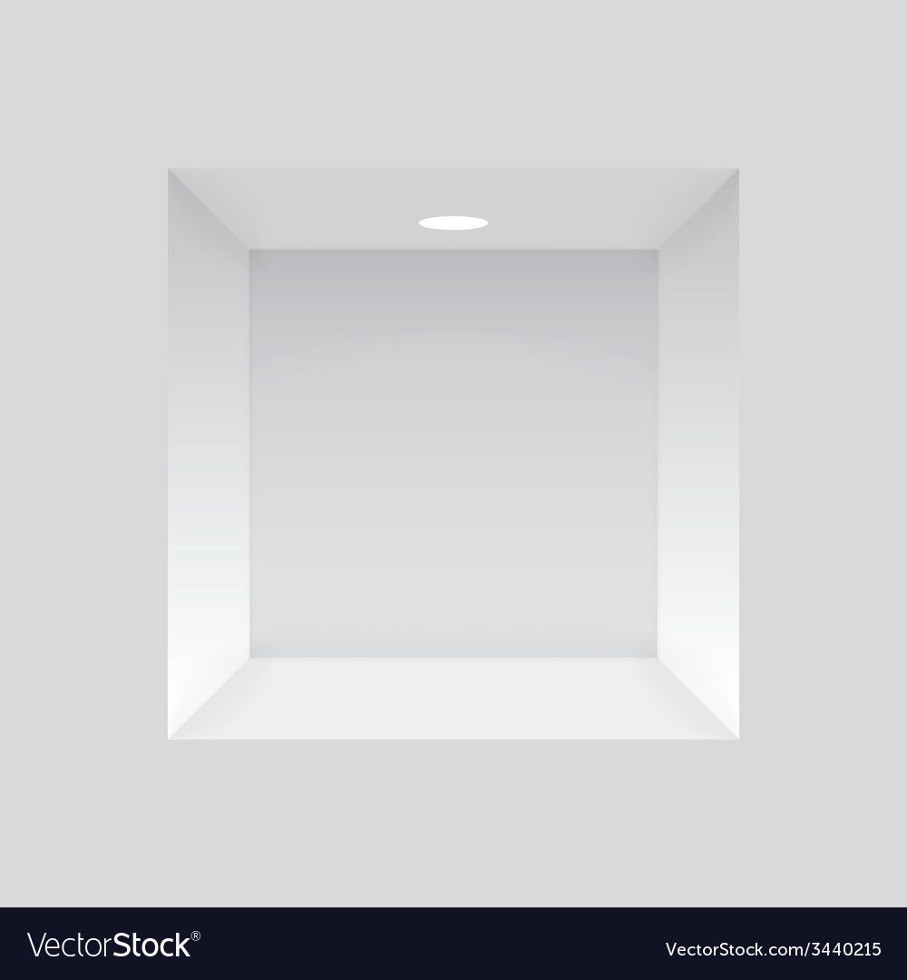 Empty niche in the wall with lights vector | Price: 1 Credit (USD $1)