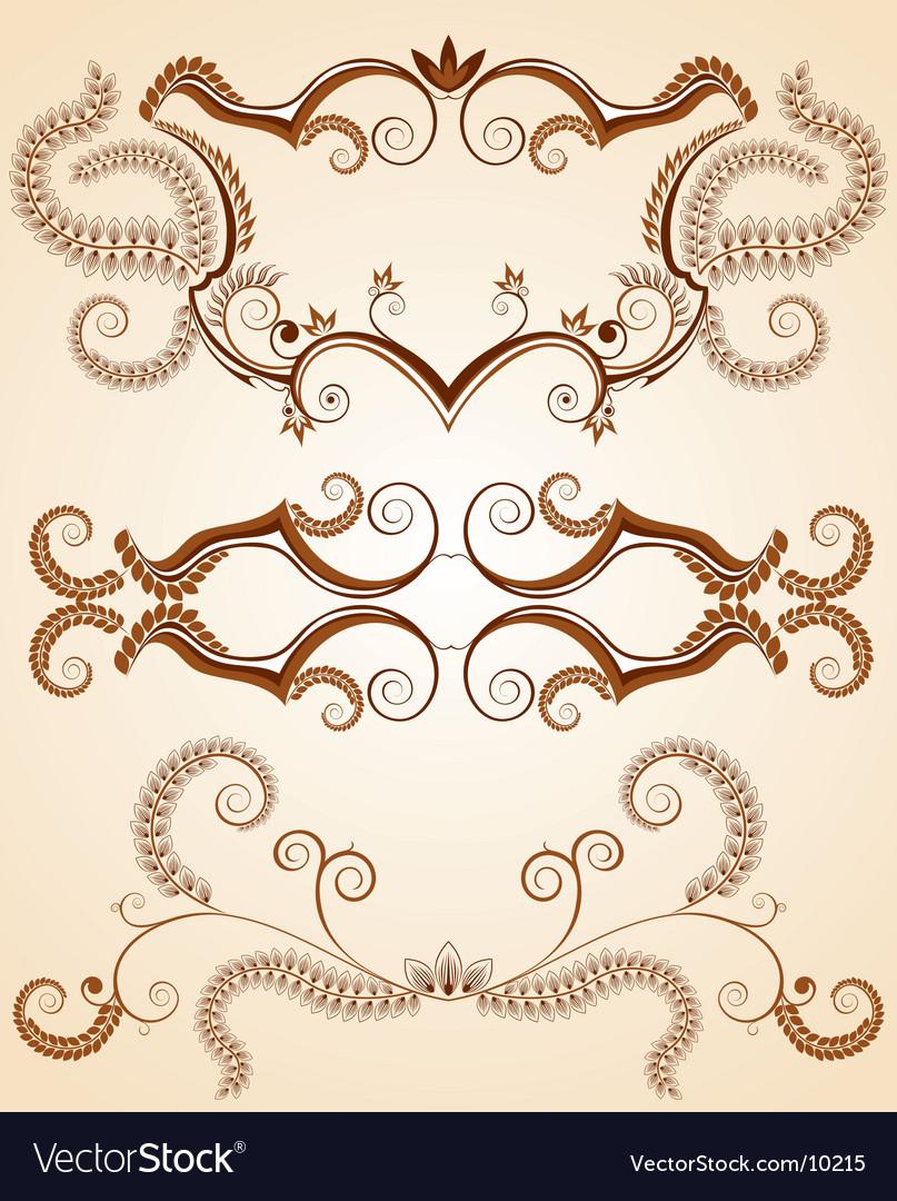 Floral design element backgrounds vector | Price: 1 Credit (USD $1)