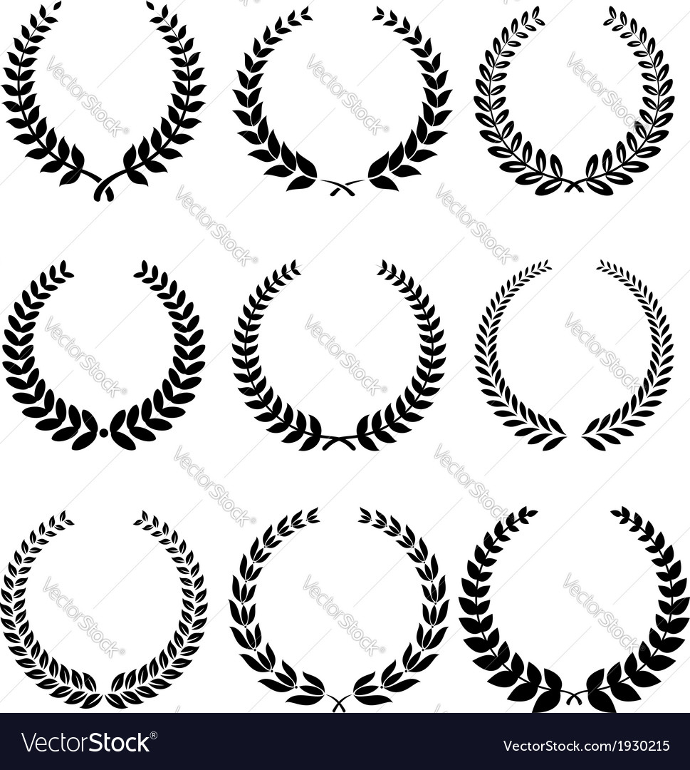 Laurel wreathes set vector | Price: 1 Credit (USD $1)