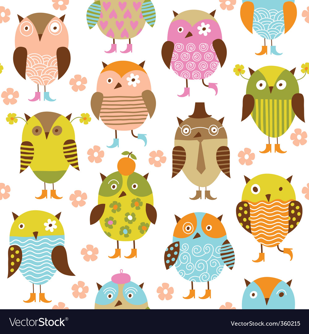 Pattern with birds vector | Price: 1 Credit (USD $1)