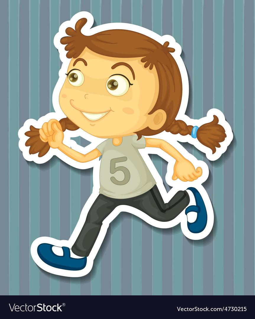 Running vector | Price: 1 Credit (USD $1)