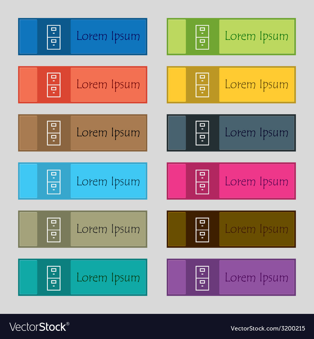 Safe sign icon deposit lock symbol set of colour vector | Price: 1 Credit (USD $1)