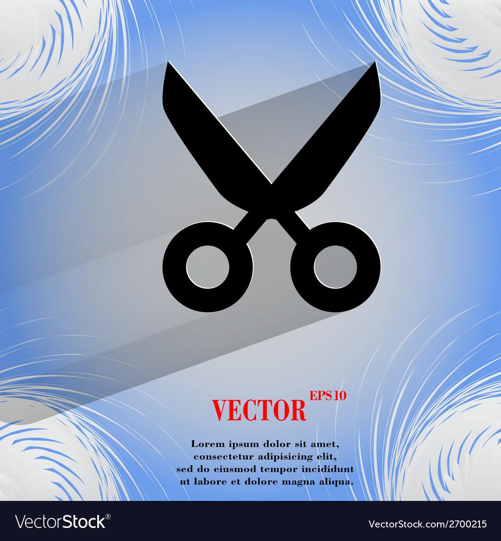 Scissors flat modern web design on a flat vector   Price: 1 Credit (USD $1)