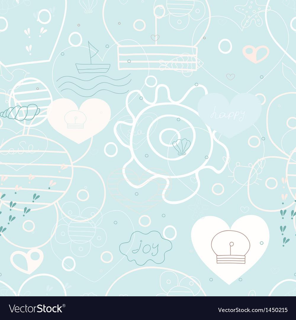 Seamless sea print vector | Price: 1 Credit (USD $1)