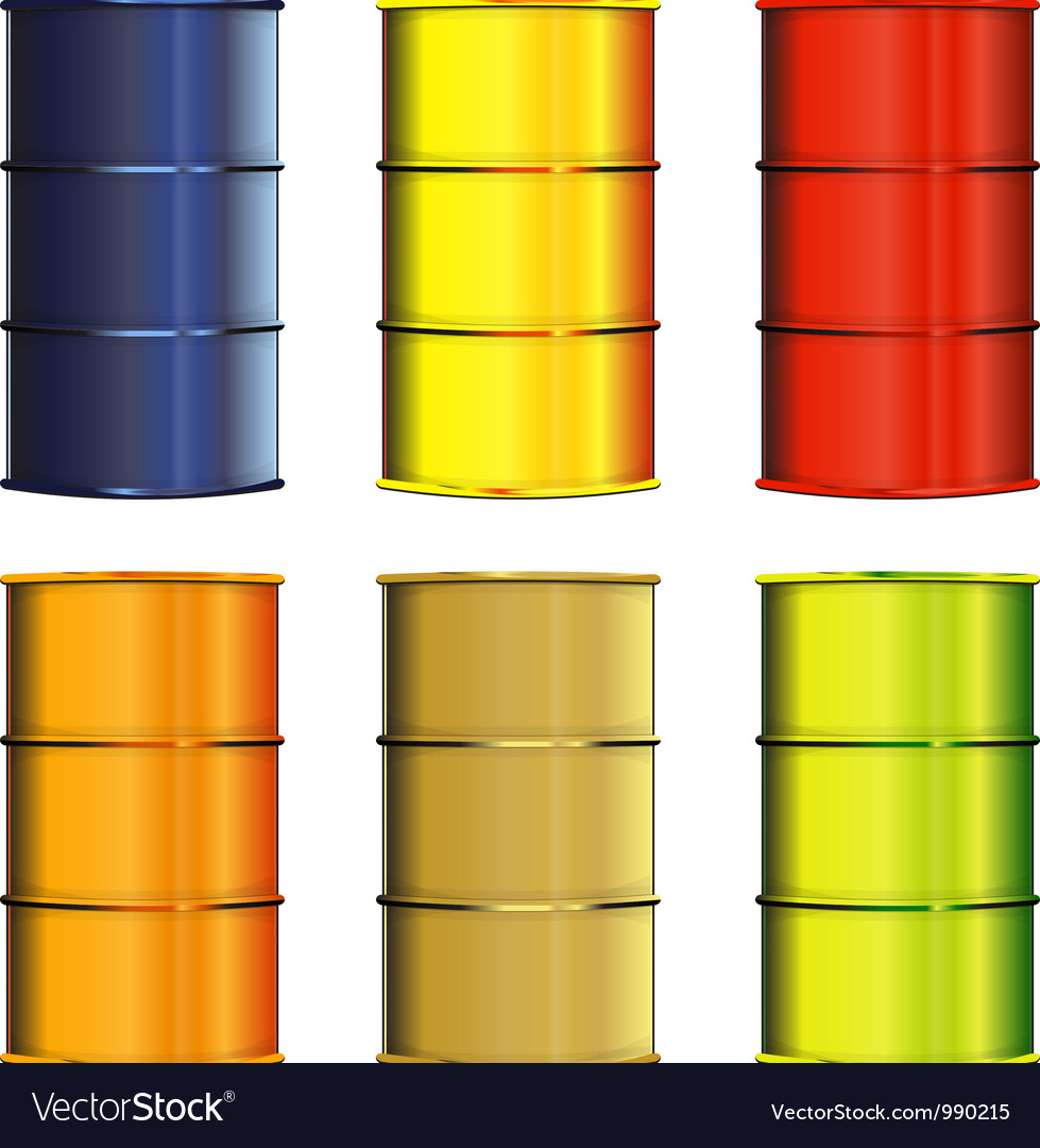Set of barrels vector | Price: 1 Credit (USD $1)