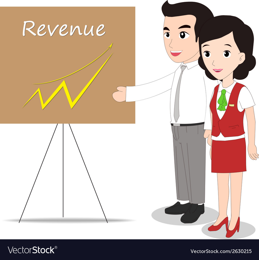 Successful business woman and man looking at vector | Price: 1 Credit (USD $1)