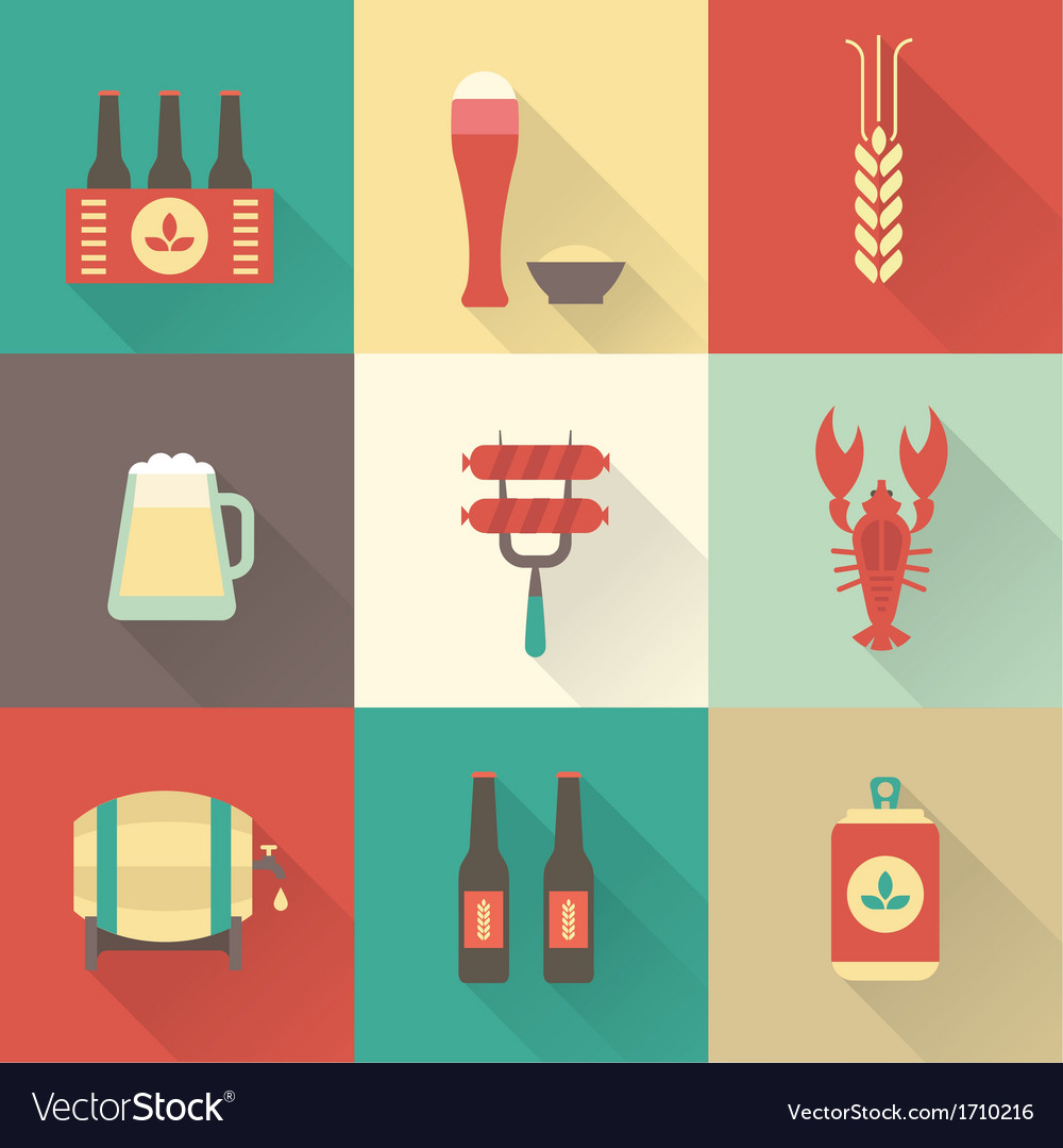 Beer icons set vector | Price: 1 Credit (USD $1)