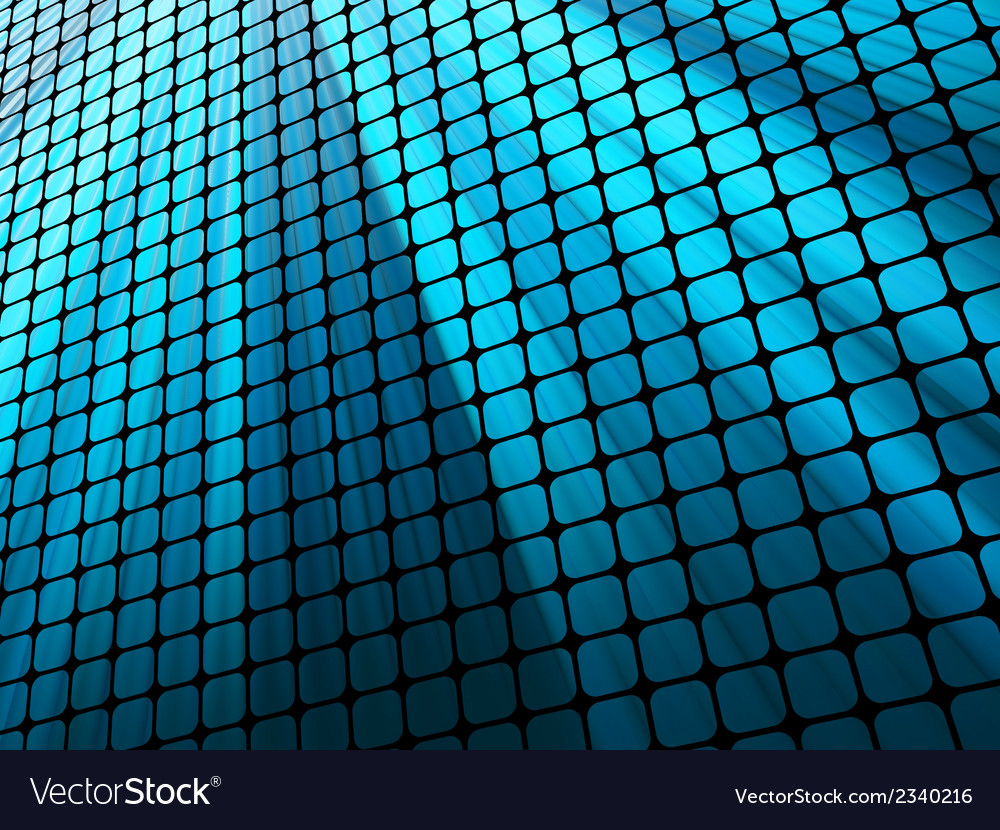 Blue rays light 3d mosaic eps 10 vector | Price: 1 Credit (USD $1)