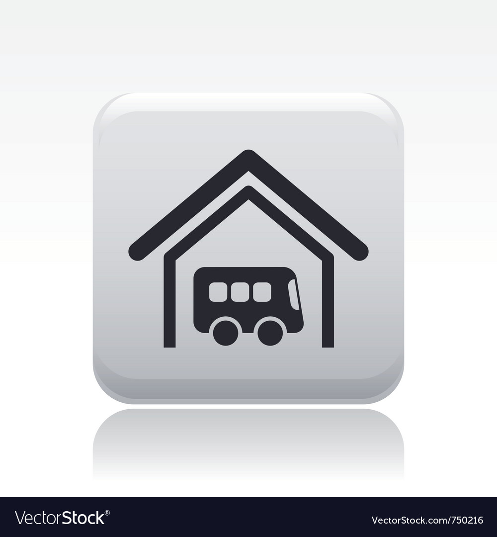Bus station icon vector | Price: 1 Credit (USD $1)