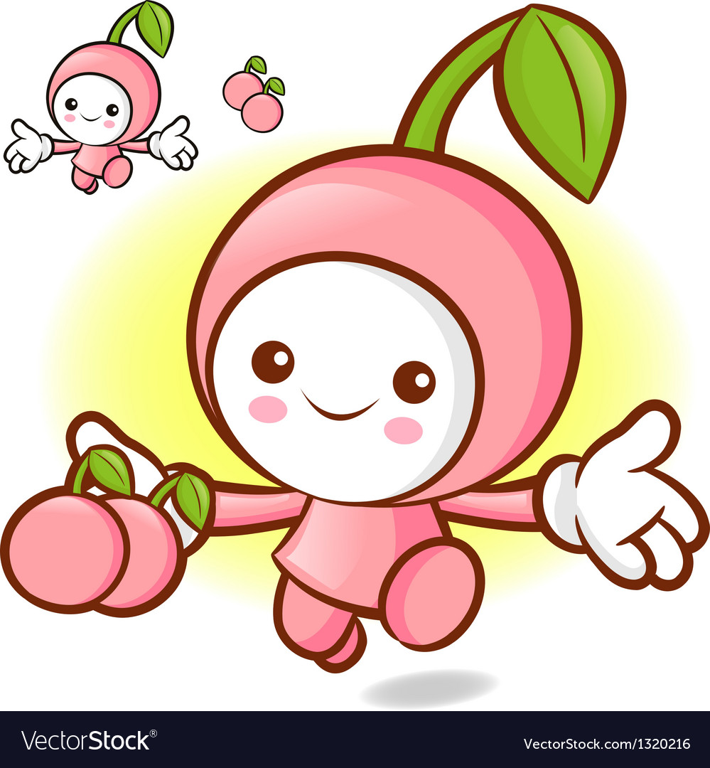 Cherry characters to promote fruit selling vector   Price: 1 Credit (USD $1)