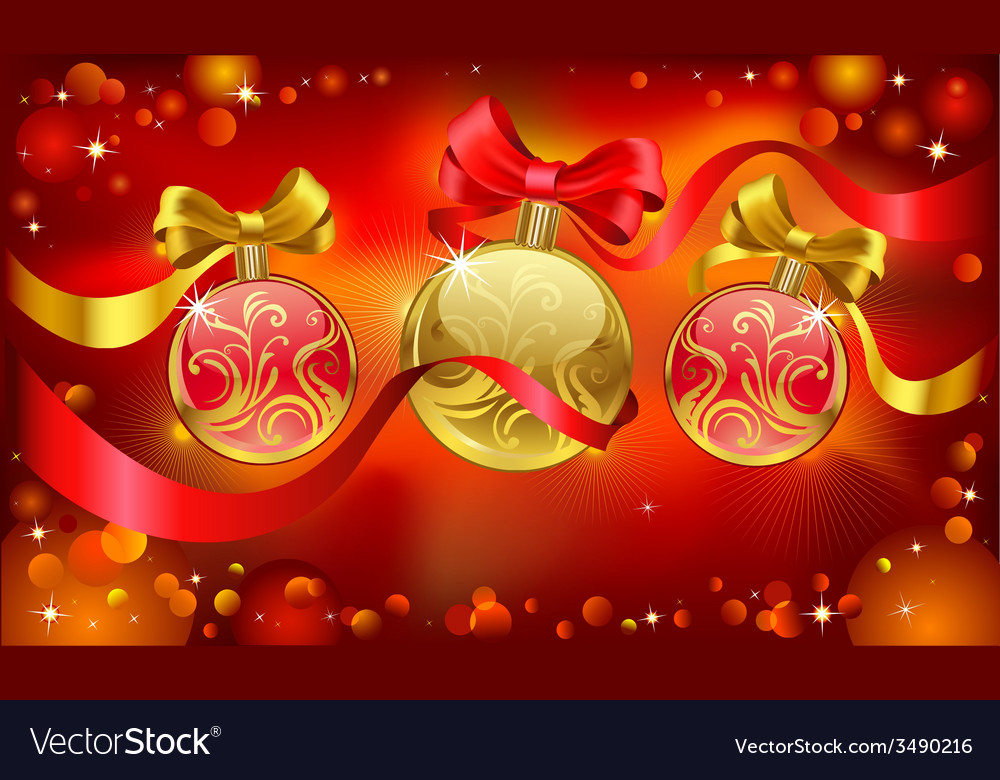Chrismas greeting card vector | Price: 3 Credit (USD $3)