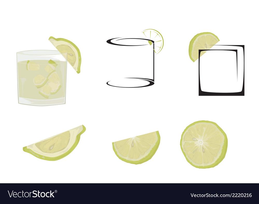 Cocktail caipiria vector | Price: 1 Credit (USD $1)
