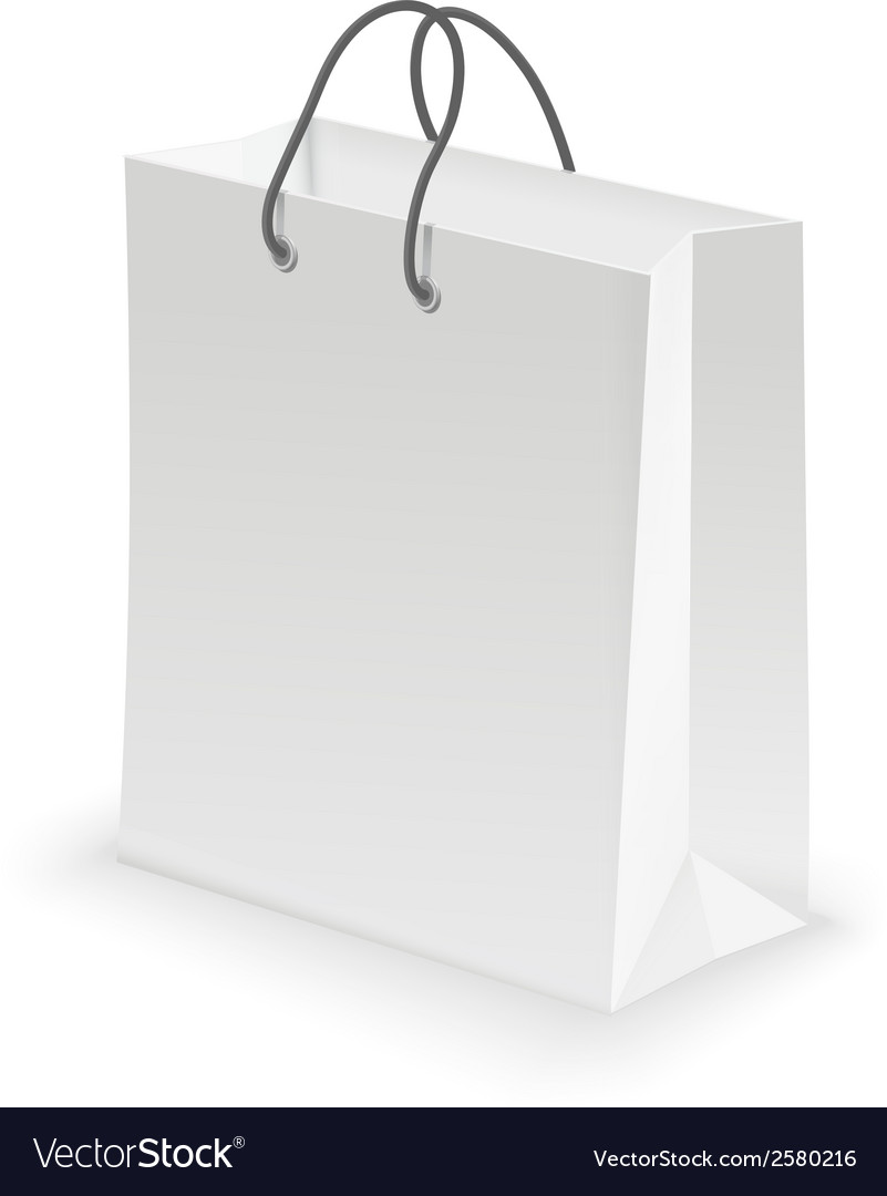 Empty shopping bag white vector | Price: 1 Credit (USD $1)