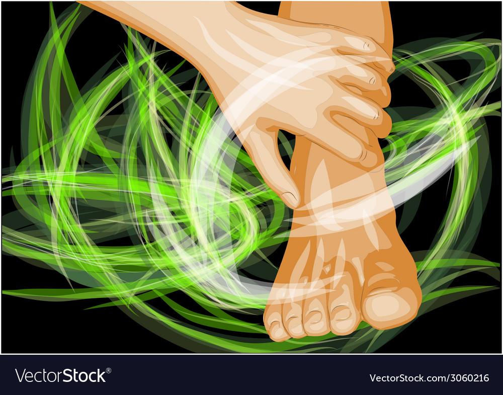 Foot massage vector   Price: 1 Credit (USD $1)