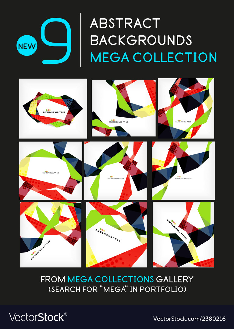 Mega collection of geometric unusual backgrounds vector | Price: 1 Credit (USD $1)