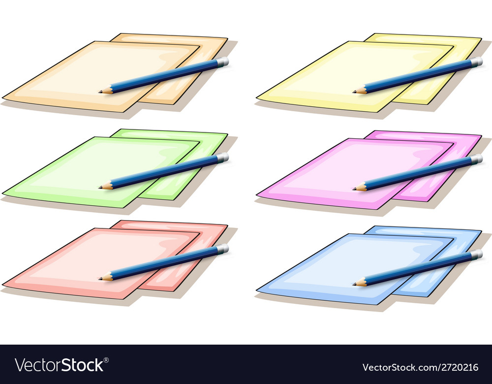 Papers and pencil vector | Price: 1 Credit (USD $1)