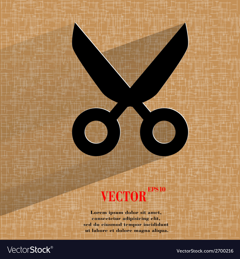 Scissors flat modern web design on a flat vector | Price: 1 Credit (USD $1)
