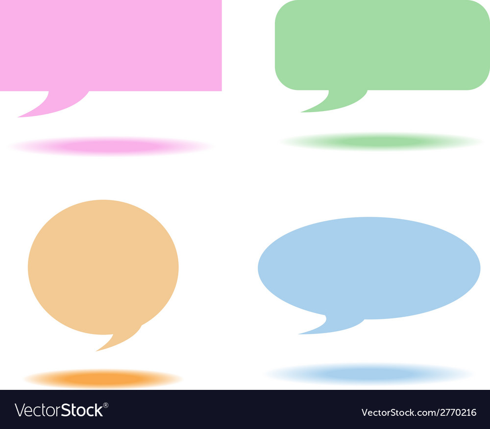 Speech bubbles box vector | Price: 1 Credit (USD $1)