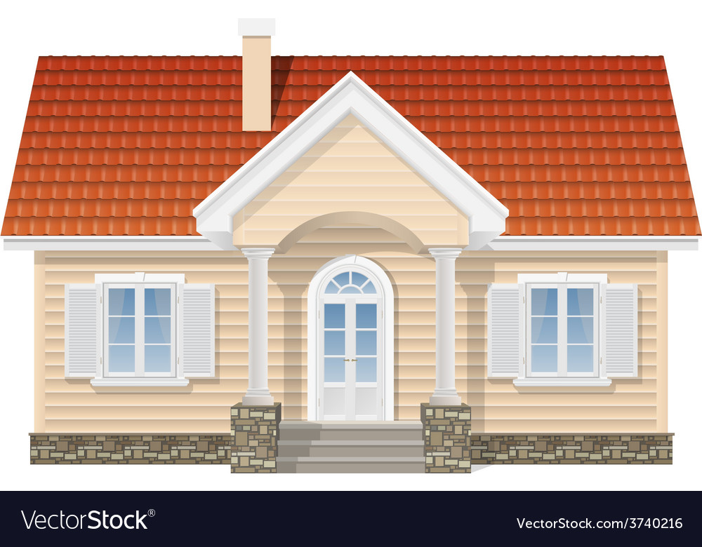 Suburban house realistic vector | Price: 1 Credit (USD $1)