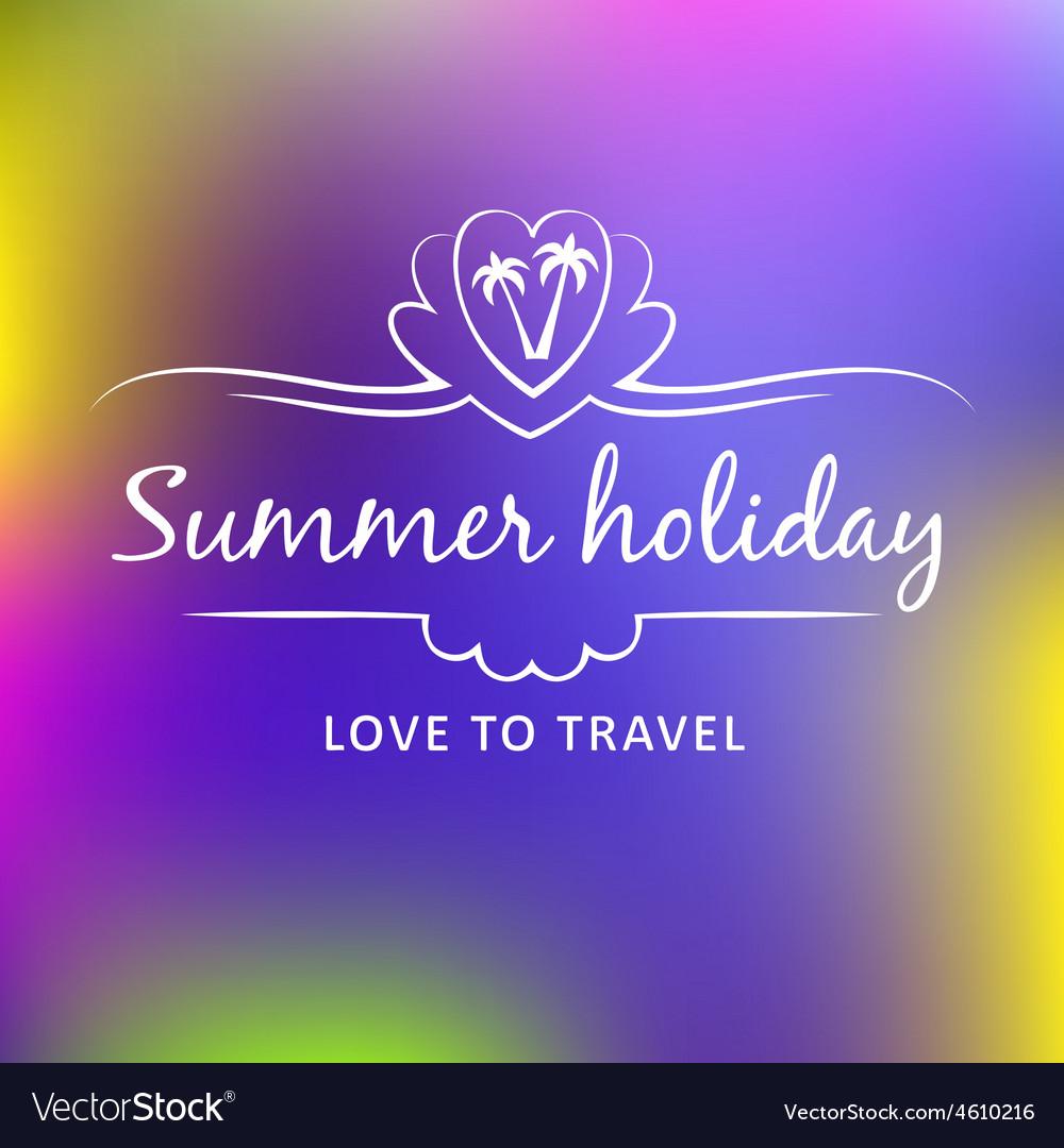 Summer weekend logo vector | Price: 1 Credit (USD $1)