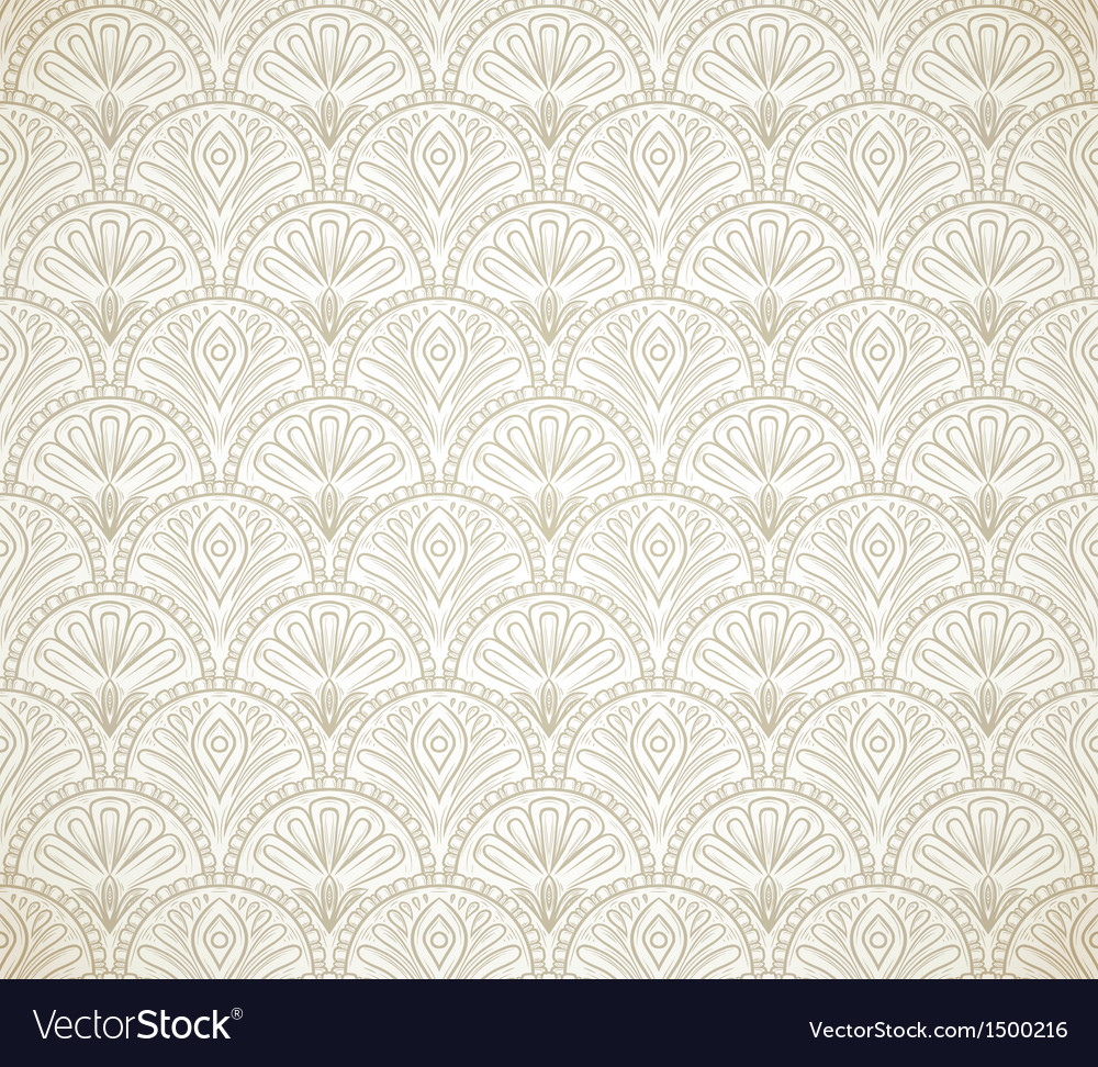 Vintage seamles pattern vector | Price: 1 Credit (USD $1)