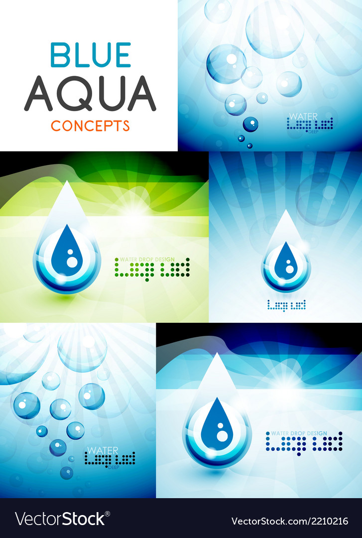 Water concepts design collection vector | Price: 1 Credit (USD $1)