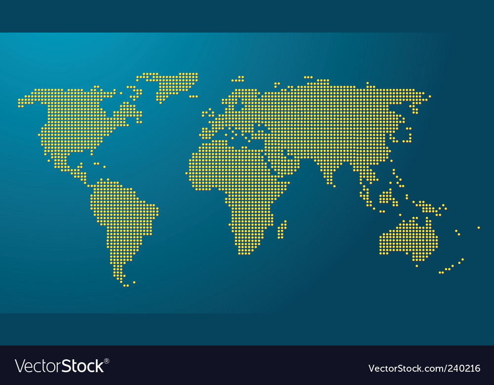World map with earth globe vector | Price: 1 Credit (USD $1)