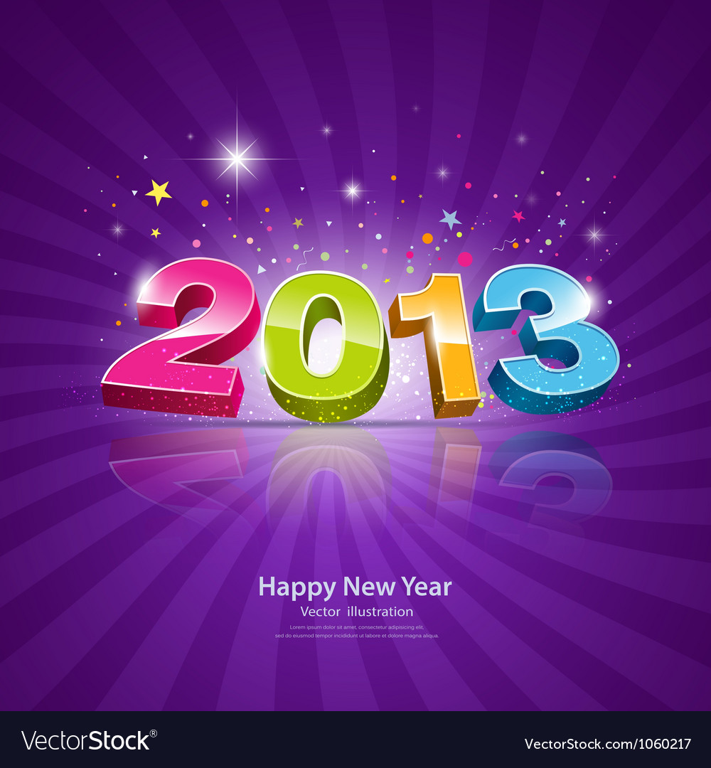 2013 message colorful background vector | Price: 1 Credit (USD $1)