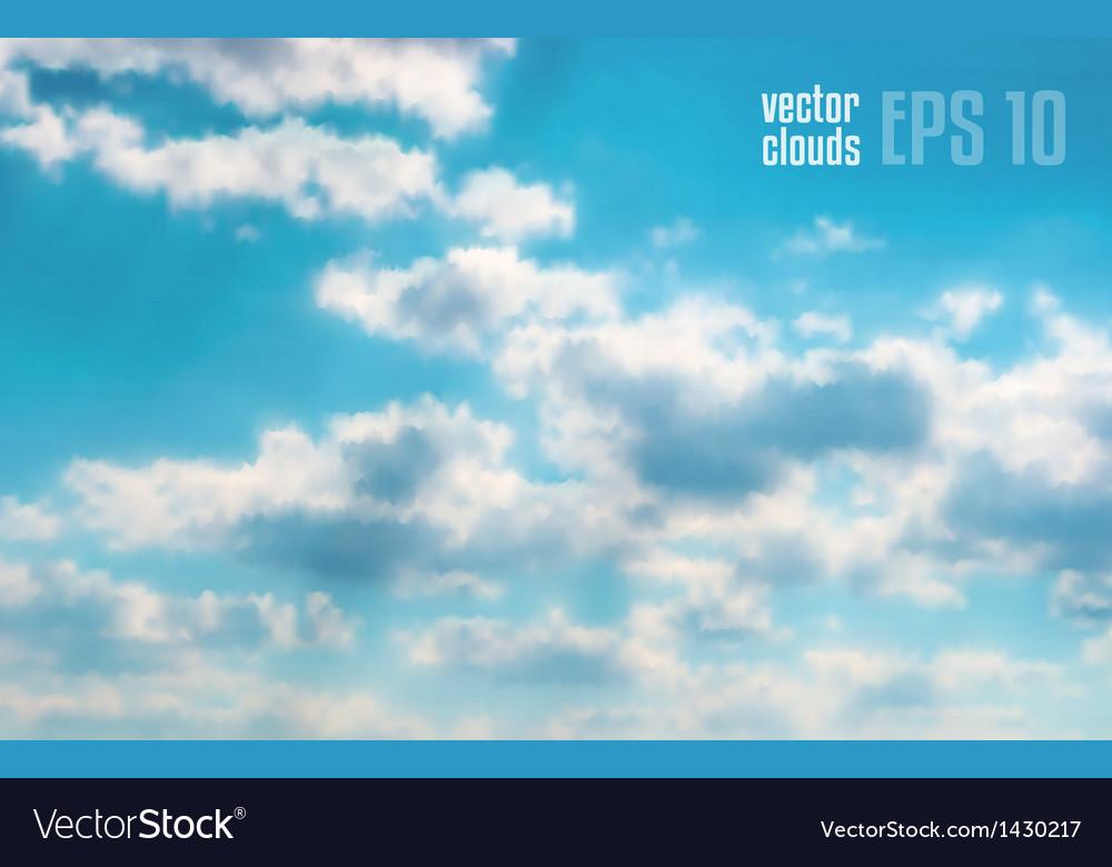Beautiful cloudscape vector | Price: 1 Credit (USD $1)