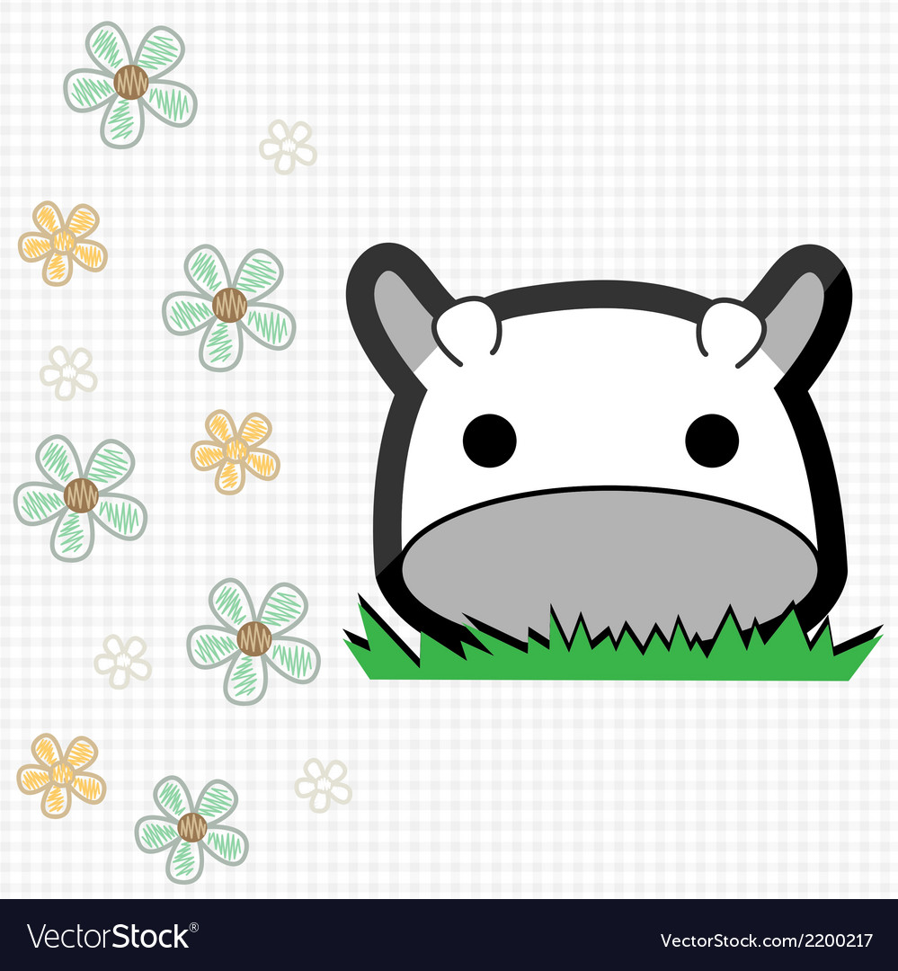Cute little cow vector | Price: 1 Credit (USD $1)