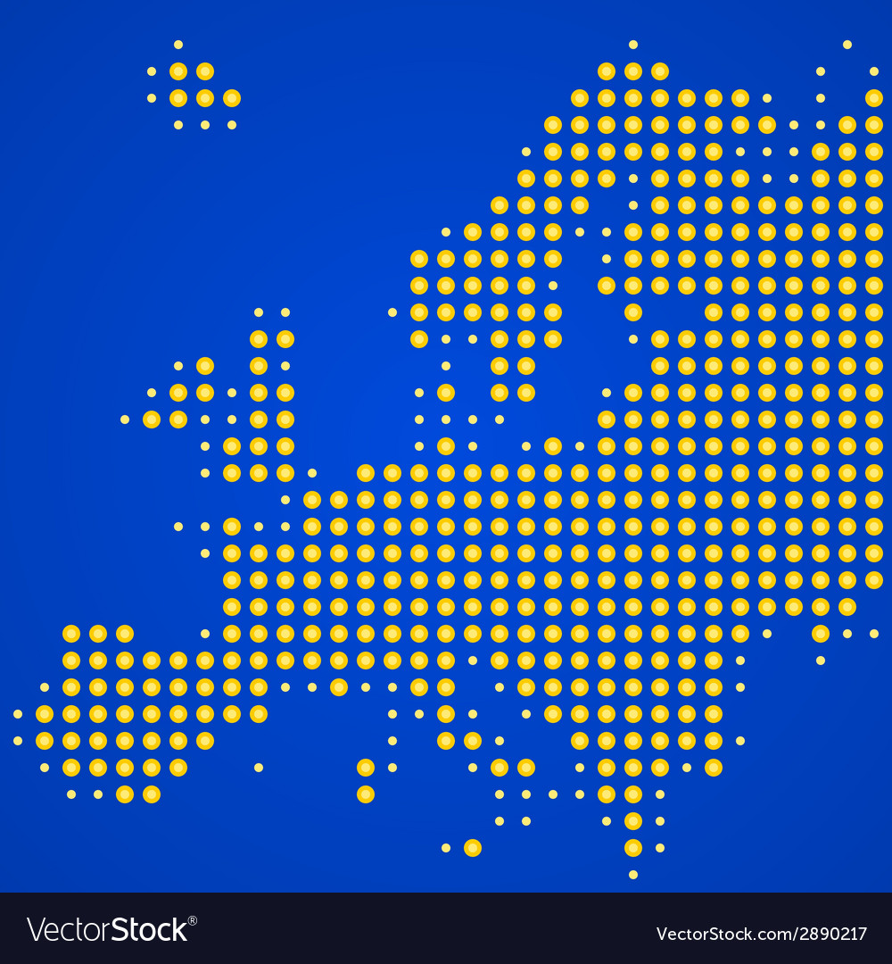 Europe map vector | Price: 1 Credit (USD $1)