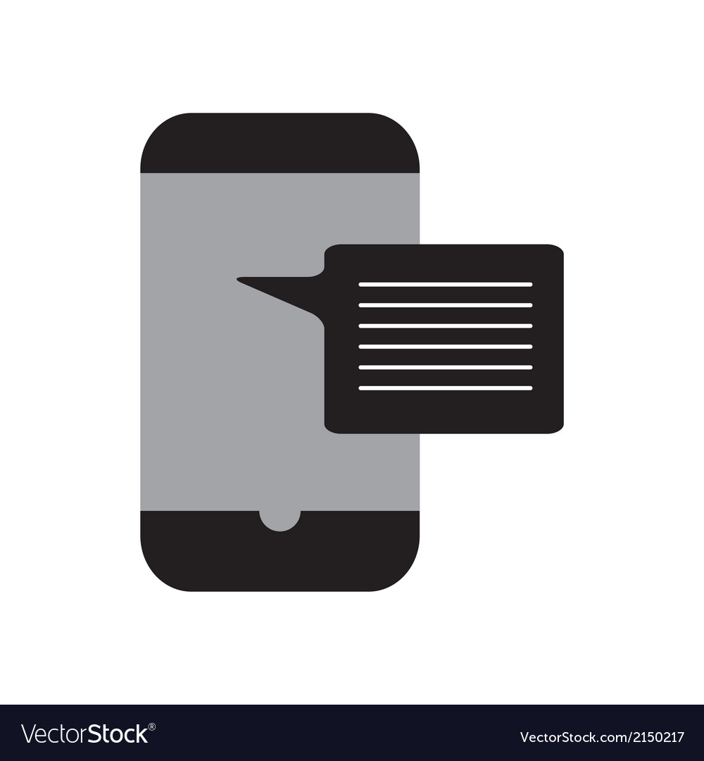 Incoming message smart phone vector | Price: 1 Credit (USD $1)