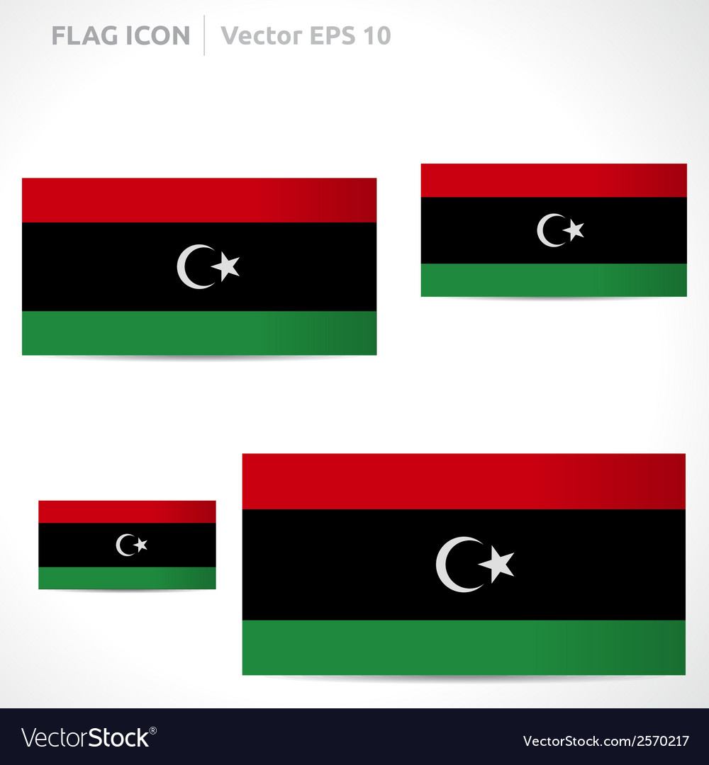 Libya flag template vector | Price: 1 Credit (USD $1)