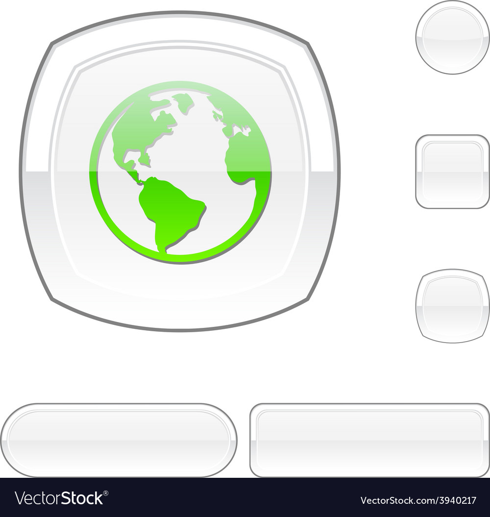 Planet white button vector | Price: 1 Credit (USD $1)