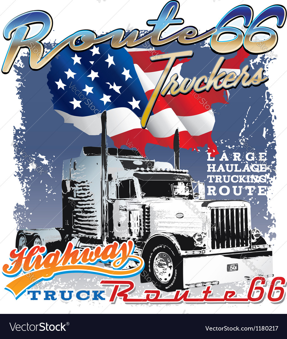 Route 66 us flag vector | Price: 1 Credit (USD $1)